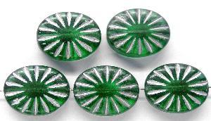 Best.Nr.:59101 Antikstyle Glasperlen, leicht mattiert mit Silberauflage