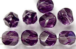 Best.Nr.:27326 geschliffene Glasperlen violett