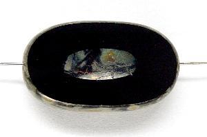 Best.Nr.:67534 Glasperlen / Table Cut Beads geschliffen mit Travertin-Veredelung