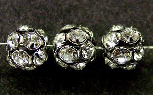 Best.Nr.:32010 Strassperle altsilber Strasssteinchen kristall verspiegelt