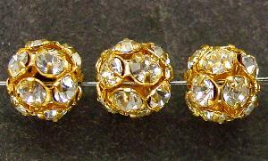 Best.Nr.:32012 Strassperle gold Strasssteinchen kristall verspiegelt