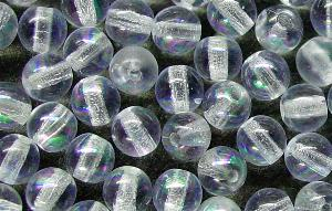 Best.Nr.:22229 Glasperlen rund aqua hell mit AB