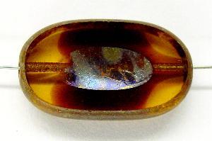 Best.Nr.:67552 Glasperlen / Table Cut Beads geschliffen mit Travertin-Veredelung