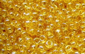Best.Nr.:09034 Rocailles von Ornella Preciosa Tschechien,  honiggelb /schimmernd (lüster)