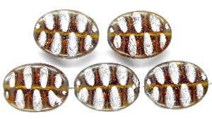 Best.Nr.:59104 Antikstyle Glasperlen, nach alten Vorlagen aus den 1930/40 Jahren neu gefertigt mit Silberauflage