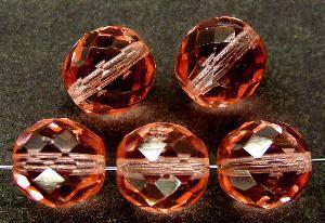 Best.Nr.:27101 facettierte Glasperlen rosa