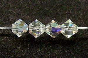 Best.Nr.:31004 mc-Schliff Glasperlen kristall mit AB bicon