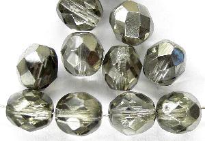 Best.Nr.:28287 facettierte Glasperlen Black Diamond mit platin Veredelung