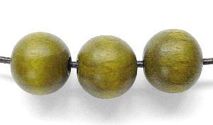 Best.Nr.:66036 Holzperle rund oliv, hergestellt in Smržovka / Tschechien