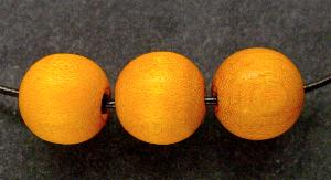 Best.Nr.:66039 Holzperle rund orange, hergestellt in Smržovka / Tschechien