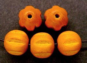 Best.Nr.:66005 Holzperle  orange