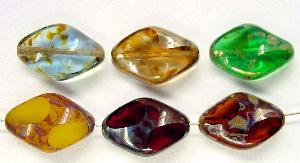 Best.Nr.:67410 Glasperlen / Table Cut Beads geschliffen mit picasso finish
