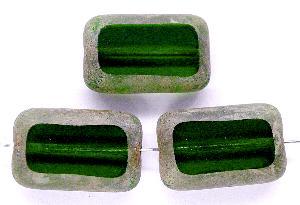 Best.Nr.:67574 Glasperlen / Table Cut Beads geschliffen, grün mit picasso finish