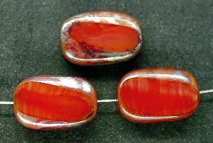 Best.Nr.:67432 Glasperlen / Table Cut Beads geschliffen, mit Travertin-Veredelung
