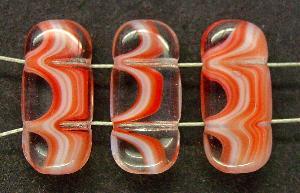 Best.Nr.:46209 Glasperlen mit zwei Löchern rosa rot kristall, hergestellt in Gablonz / Tschechien