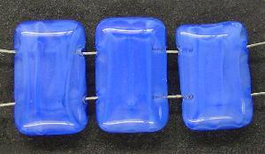 Best.Nr.:49037 Glasperlen blau meliert mit zwei Löchern, hergestellt in Gablonz / Tschechien