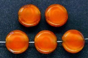 Best.Nr.:67567 Glasperlen / Table Cut Beads geschliffen mit Travertin-Veredelung