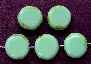 Best.Nr.:67530 Glasperlen / Table Cut Beads geschliffen mit Travertin-Veredelung