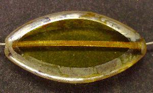 Best.Nr.:67462 Glasperlen / Table Cut Beads geschliffen mit Travertin-Veredelung