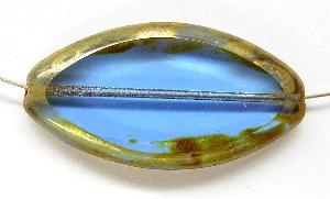 Best.Nr.:67172 Glasperlen / Table Cut Beads geschliffen mit Travertin-Veredelung