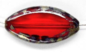Best.Nr.:67306 Glasperlen / Table Cut Beads geschliffen mit Travertin-Veredelung