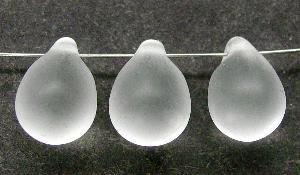 Best.Nr.:55002 Glasperlen Tropfen  kristall mattiert