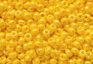 Best.Nr.:03067 Rocailles von Ornella Preciosa Tschechien, gelb /schimmernd (lüster)