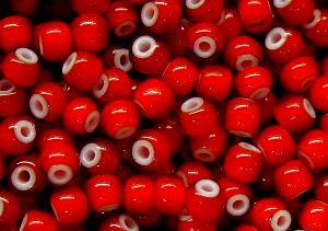 Best.Nr.:17002 Rocailles rot mit weißen Kern