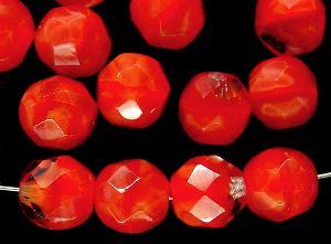 Best.Nr.:26330 facettierte Glasperlen Perlettglas rot