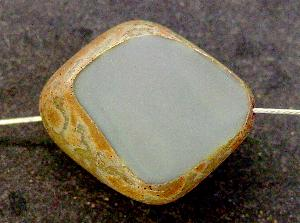 Best.Nr.:67631 große Glasperle / Table Cut Bead geschliffen mit picasso finish