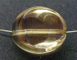 Best.Nr.:67311 Glasperlen / Table Cut Beads geschliffen kristall mit metallic finish, hergestellt in Gablonz / Tschechien