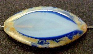 Best.Nr.:67366 Glasperlen / Table Cut Beads geschliffen mit Travertin-Veredelung