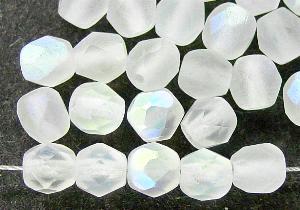 Best.Nr.:28266 facettierte Glasperlen kristall mit AB mattiert (frostet)