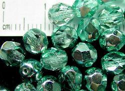 Best.Nr.:24070 facettierte Glasperlen mit Silber-Veredelung und Wachsüberzug