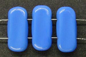 Best.Nr.:57406 Glasperlenmit zwei Löchern kornblumenblau opak, hergestellt in Gablonz / Tschechien
