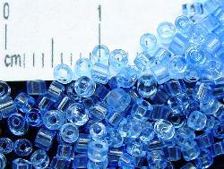 Best.Nr.:63055 Glasperlen in den 1920/30 Jahren in Gablonz/Böhmen hergestellt 2-cut aqua