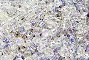 Best.Nr.:11088 Rocailles kristall mit AB (irisierend)
