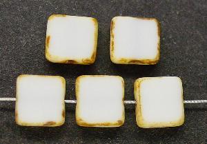 Best.Nr.:67566 Glasperlen / Table Cut Beads geschliffen mit Travertin-Veredelung