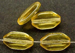 Best.Nr.:46101 Glasperlen Olive flach,kantig honiggelb