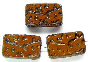 Best.Nr.:67079 Glasperlen / Table Cut Beads geschliffen mit Travertin-Veredelung