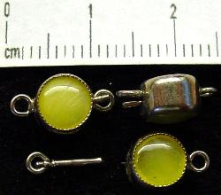 Best.Nr.:39024 Kettenverschlüsse mit Glasstein Gablonz/Böhmen ca.1930 hergestellt