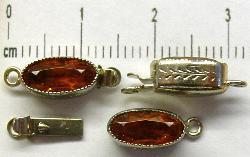 Best.Nr.:39025 Kettenverschlüsse mit Glasstein Gablonz/Böhmen ca.1930 hergestellt