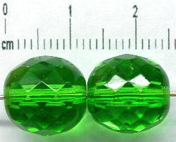 Best.Nr.:27130 facettierte Glasperlen grün