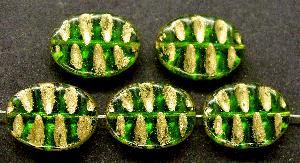 Best.Nr.:59189 Antikstyle Glasperlen, nach alten Vorlagen aus den 1930/40 Jahren neu gefertigt mit Goldauflage