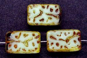 Best.Nr.:67575 Glasperlen / Table Cut Beads geschliffen mit Travertin-Veredelung