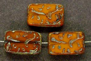 Best.Nr.:67414 Glasperlen / Table Cut Beads geschliffen mit Travertin-Veredelung