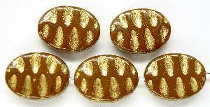 Best.Nr.:59164 Antikstyle Glasperlen, nach alten Vorlagen aus den 1930/40 Jahren neu gefertigt mit Goldauflage