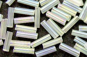 Best.Nr.:21017 Glasstifte kristall (leicht milchig) mit AB, von Preciosa Tschechien