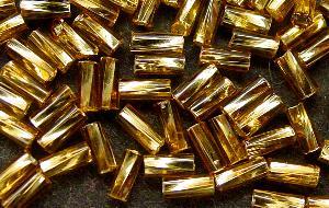 Best.Nr.:21116 Glasstifte getwistet  topas mit Silbereinzug, von Ornella Preciosa Tschechien hergestellt,