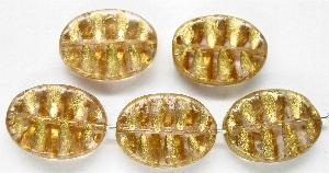 Best.Nr.:59200 Antikstyle Glasperlen, nach alten Vorlagen aus den 1930/40 Jahren neu gefertigt mit Goldauflage